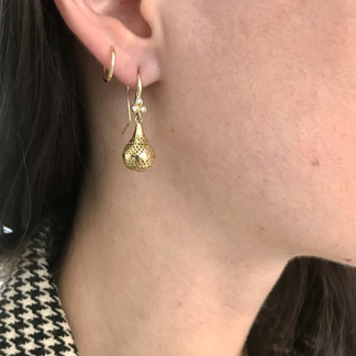 Small Crownwork® Finial Drop Earrings