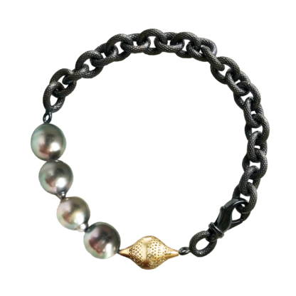 Tahitian Pearl and Finial Bracelet