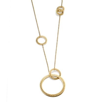 Asymmetric Crownwork® Disc Necklace