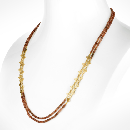 Andalusite Clover Triple Wrap Necklace