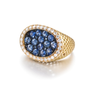 Pave Sapphire Dress Ring