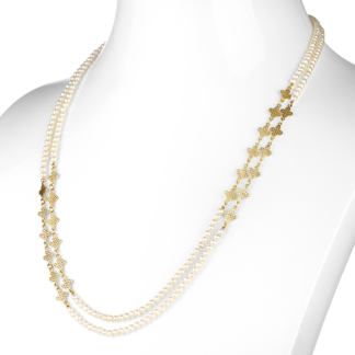Pearl Triple Wrap Necklace