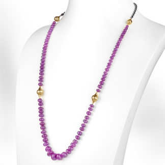 Graduated Pink Sapphire Necklace