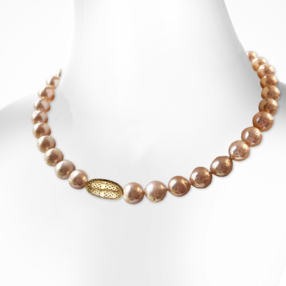Pearl and Crownwork® Olive Necklace